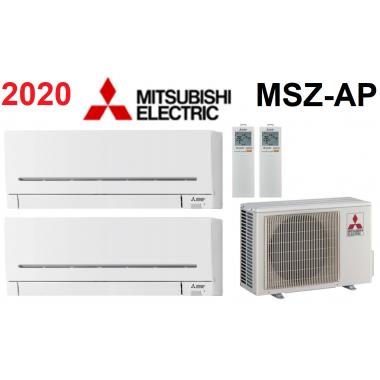 Мульти-сплит-система Mitsubishi Electric MXZ-2D53VA + 2 внутренних блока серии Standard AP (25+25)